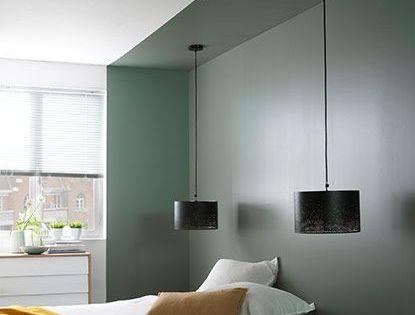 d limitation alc ve avec un aplat de peinture en t te de lit b e d r o o m pinterest. Black Bedroom Furniture Sets. Home Design Ideas