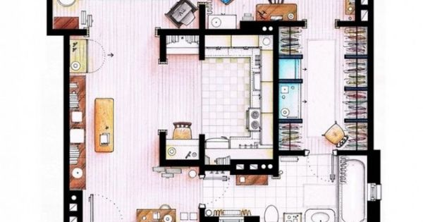 Very simple house floor plans - Sex And The City Casa Pinterest Master Room