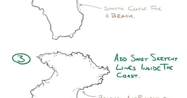 how to draw a fantasy map