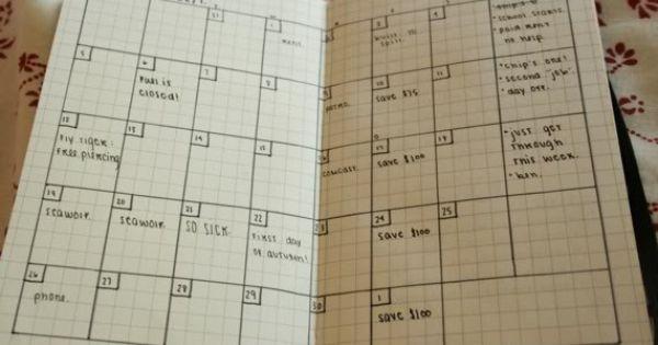 graph paper planner calendar