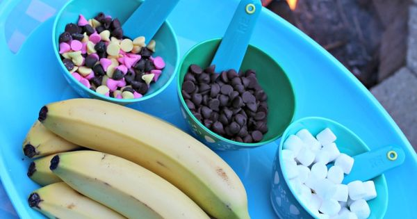Campfire Banana Splits with Nestle Toll House