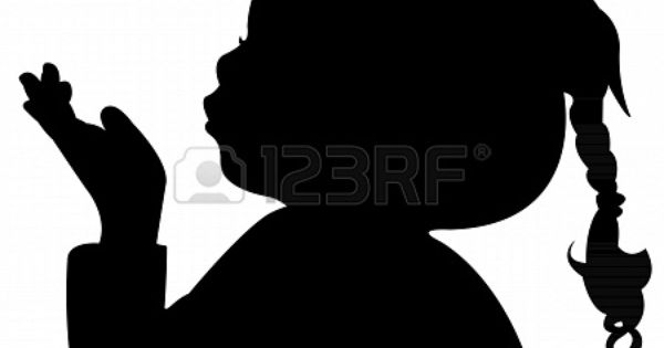 A Child Blowing Out Silhouette Stock Photo 22015681