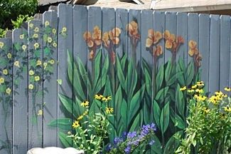 15 Creative And Inspiring Garden Fence Ideas Home And Gardening Ideas Fence Art Garden Mural Fence Paint