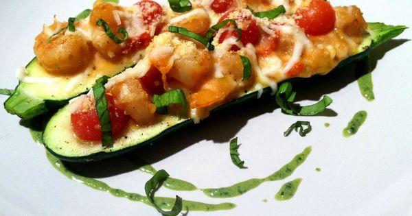 Pesto cream sauces, Stuffed zucchini and Pesto on Pinterest