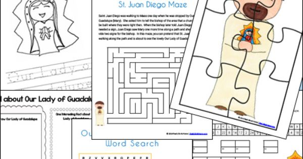 worksheets on the virgin of guadalupe jpg 853x1280