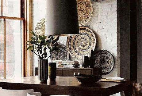 platos de mimbre con dise os tnicos living pinterest grau. Black Bedroom Furniture Sets. Home Design Ideas