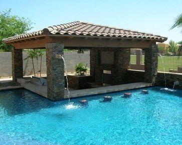 Photos 10 Swim Up Bars We Wish We Were Sitting At Now Pool Houses Backyard Pool Swimming Pool Designs