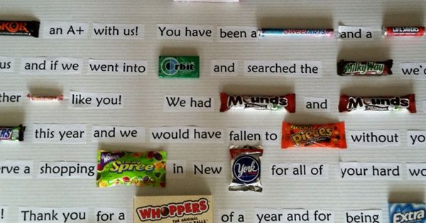 sayings for teachers | End of year teacher gift, candy bar sayings ...