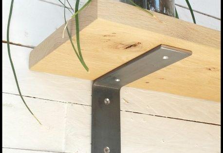 Equerre Brute Sans Rebord 13x18 Cm Style Industriel Pour Tablette En Bois Support Mural En Metal Acier En 2020 Tablette En Bois Parement Mural Equerre Murale