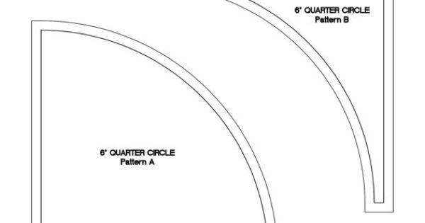 6 Inch Quarter Circle Template Set By TabSlot On Etsy, $10