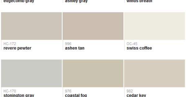 Best-selling grays (Benjamin Moore) : Color : Pinterest ...
