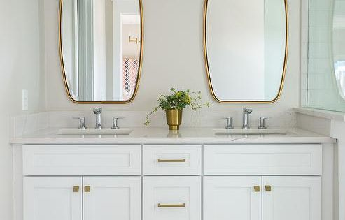 Bathroom Mirror Bathrooms Remodel, Brass Bathroom Mirrors