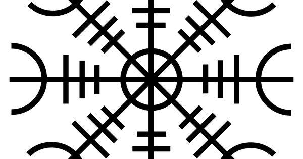 Aegilsmur symbole de protection viking moto custom - Symbole de protection ...