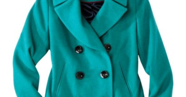 Merona® Womens Double Breasted Classic Peacoat color kelly green size small