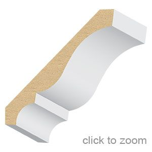Colonial Crown 406ldf Product Species Mdf Valuflex Mouldings Product Type Crown Mouldings Mouldings El And El Wood P Moulding Profiles Mouldings Colonial