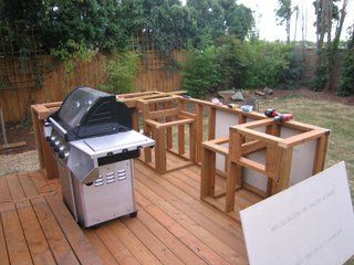 Bbq Island Made Simple Step 1 Framing Build Outdoor Kitchen