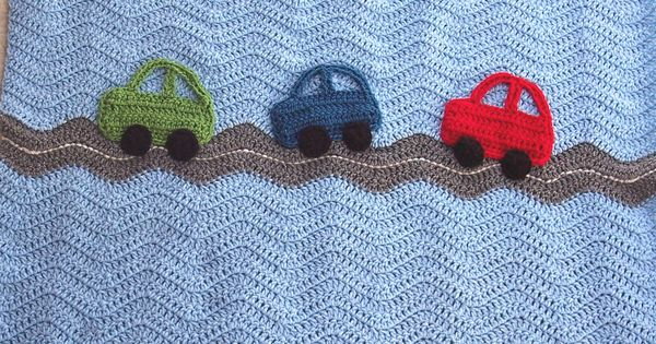 Crochet Cars Ripple Blanket A Baby Boy Ripple Afghan In