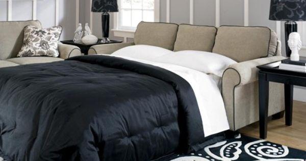 Furniture Stores In Everett Wa Caroline - Sepia Transitional Queen Sofa Sleeper by Signature Design ...