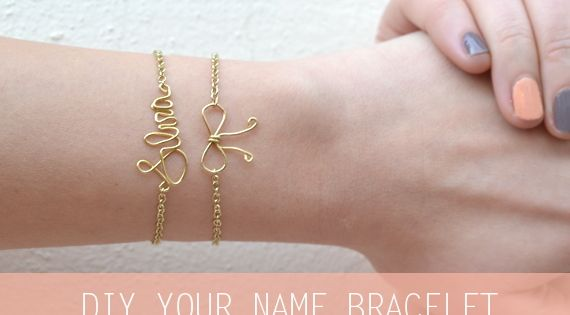 diy wire name bracelet