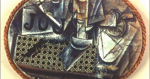 pablo picasso la nature morte 224 la chaise cann 233 e 1912 huile et toile cir 233 e sur toile avec