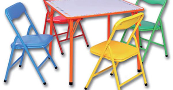 5 Piece Kids Folding Dry Erase Table Chairs 50 I Bought This Table Last Year And I Love It Table And Chairs Kids Chairs Dry Erase Table