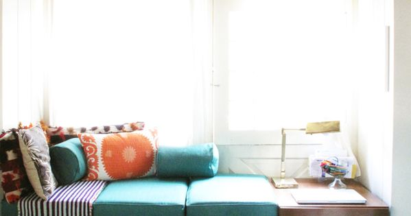 Reading corner - A Custom-Made Window Seat by Justina Blakeney