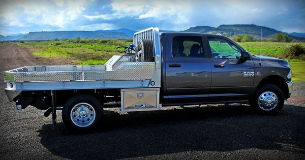 Dodge 3500 with Aluminum Flatbed, dual underbody boxes w/ new T-Grip Lock, Fuel Transfer Tank w ...