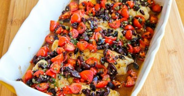 Recipe for Hake Loins Baked with Tomato, Kalamata Olive, and Caper ...