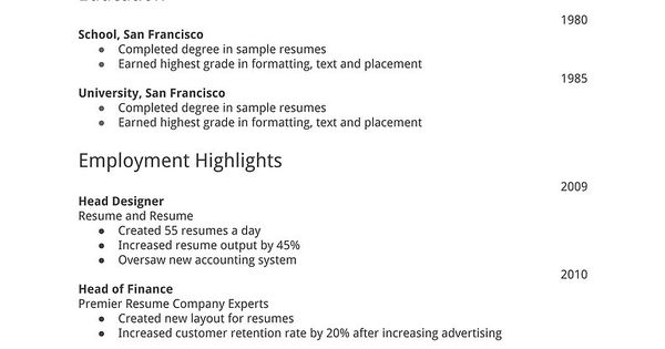 simple resume template download free resume templates d