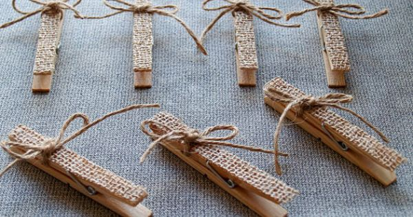 10 decorative burlap clothespins by agitasworks on etsy. Black Bedroom Furniture Sets. Home Design Ideas