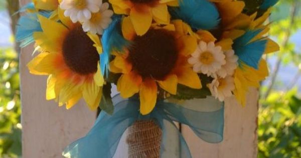 Rustic Sunflower Bouquet Country Southern Bride Bouquet ...