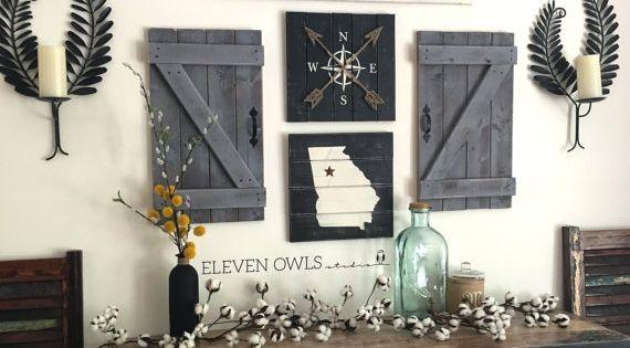 GATHER SIGN 5 Piece SET Gallery Wall Set By ElevenOwlsStudio Silhouette Pinterest