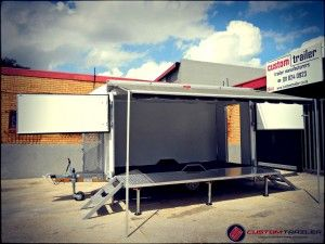 Promotional Stage Trailers Trailer Portable Stage Beach Trailer