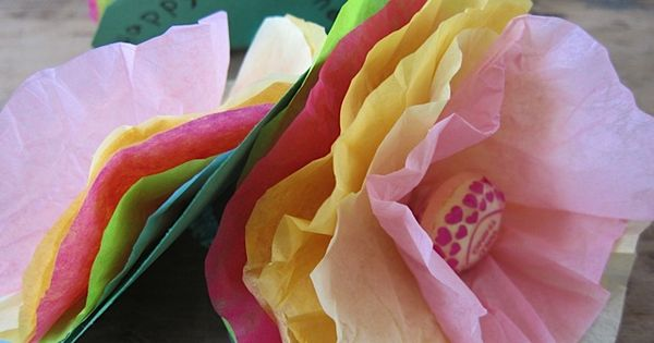 Tissue Paper Lollipop flowers.