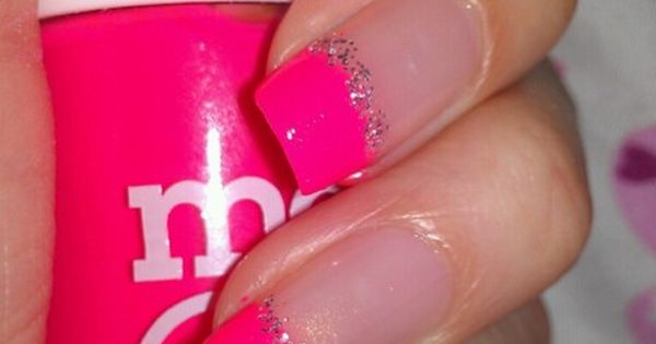 pretty pink tip nails