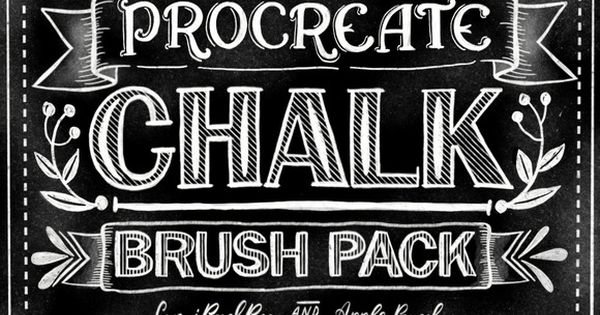 Download Procreate Chalk Lettering Brush Pack | Fonts and Font packs