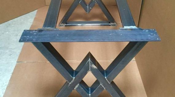 The diamond dining table base industrial base sturdy heavy for How to make a sturdy table base