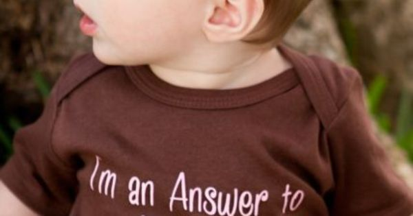 Maybe in blue - I'm an Answer to Prayers PINK-Christian Baby Onesie,