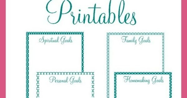 Free Goal-Setting Printables | Party invitations, Board and Studio