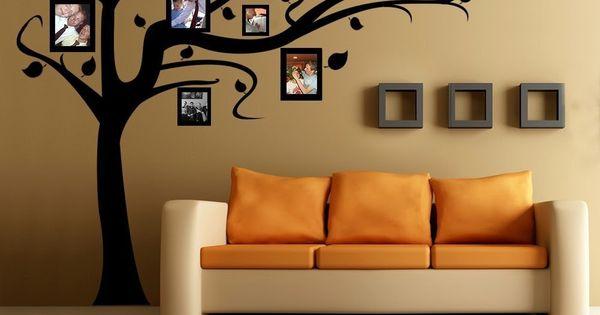 Ideas para decorar la pared de tu casa rbol de vinilo - Decorar paredes facil ...
