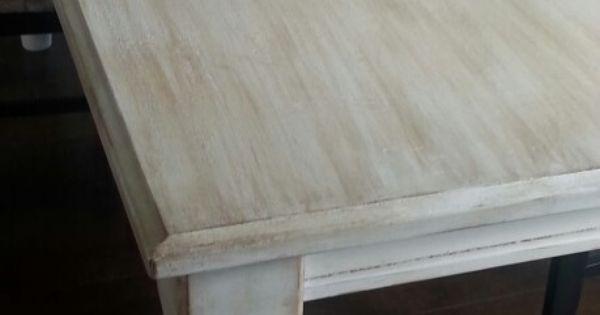 table repeints avec peinture a la craie meuble pinterest tables. Black Bedroom Furniture Sets. Home Design Ideas
