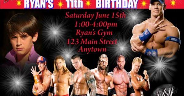 John Cena Party Invitation Wrestling WWE Invite – John Cena Birthday Cards