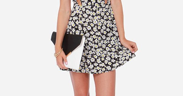 Daisy About You Black Floral Print Dress Black Fabric Floral And 2014 Trends