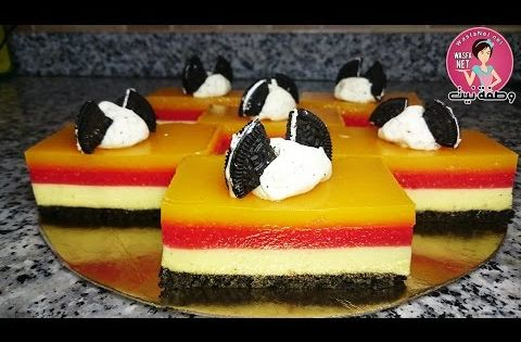 كيكة باردة سهلة رائعة وسريعة بدون فرن ديسير طبقات بالفواكه Desserts Arabic Sweets Sweets