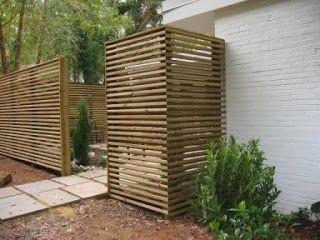 Slim Horizontal Slat Fence Modern Fence Horizontal Slat Fence