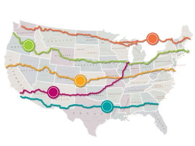 East West Routes ROAD TRIP USA Road Trips Pinterest Road - Interactive motorcycle map of the us