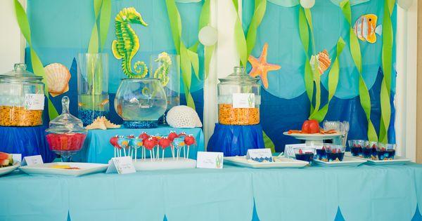 Under the sea summer party ideas fiestas cumplea os y - Decoracion marinera barata ...