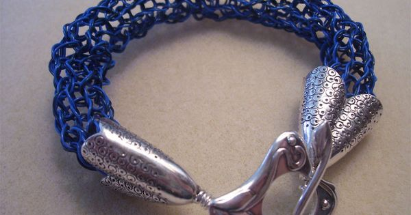 Knitting With Wire And Beads : Knitting on a spool with soft flex beading wire