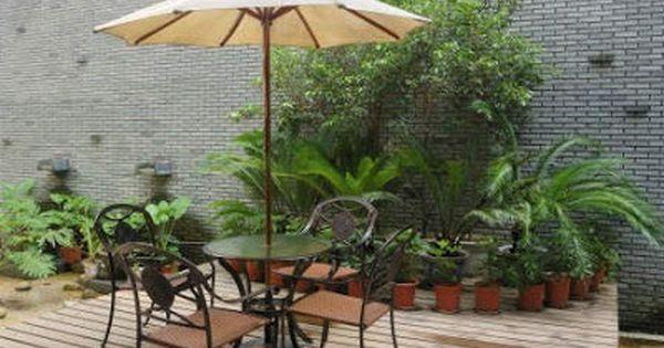 15 brillantes ideas para decorar jardines en patios - Patios jardines pequenos ...