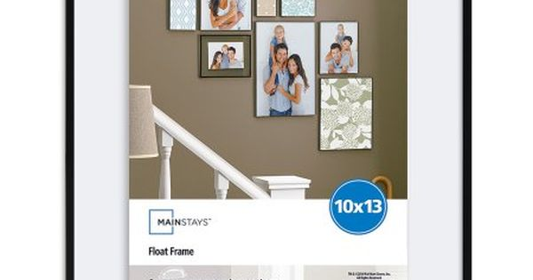 Mainstays 10 X 13 10 25 X 25 X 13 25 Flex Float Frame Black Finish Walmart Com Floating Frame Floating Picture Frames Wedding Picture Walls